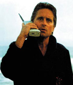 Gordon Gekko on phone