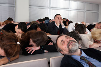 Bored PowerPoint audience