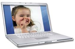Gross screensaver on laptop