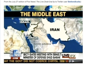 Bad Middle East map