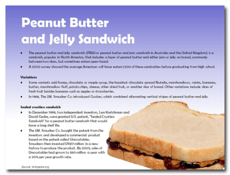 The history of the PBJ