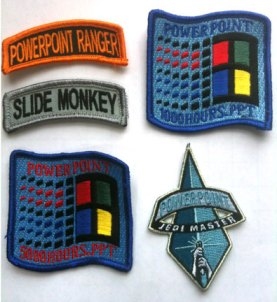 PowerPoint patches of honor